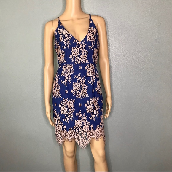 Minuet Dresses & Skirts - Blue lace dress by Minuet